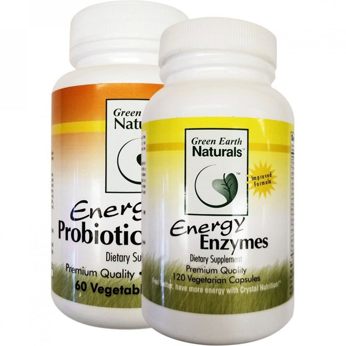Energy Enzymes & Free Energy Probiotic Defense Supplement Green Earth Naturals