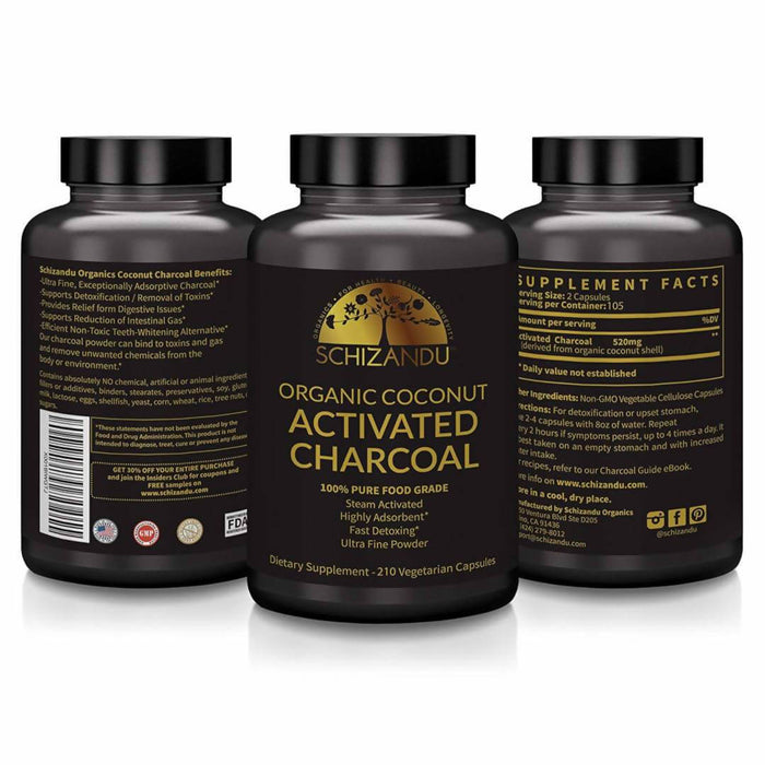 Organic Activated Coconut Charcoal Capsules! Choose Your SUPER DEALS Here!