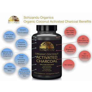 Organic Activated Coconut Charcoal Capsules