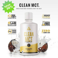 CLEAN MCT 100% Pure C8 Caprylic Acid MCT Oil