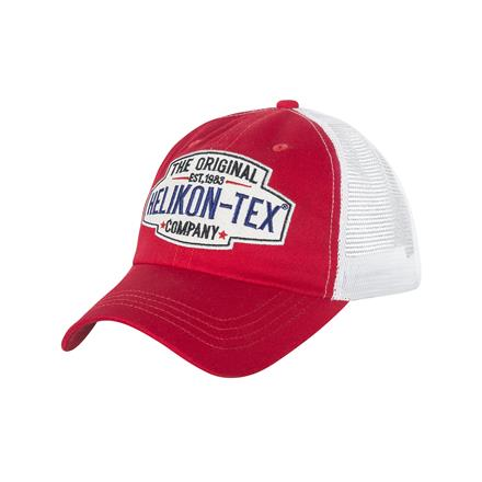 Helikon Tex Trucker Logo Cap - Cotton Twill - Red/White