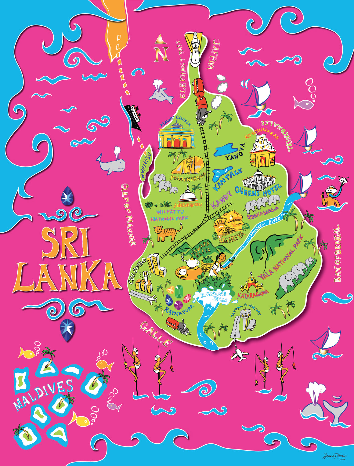 Gem Of The Ocean - Sri Lanka map