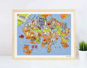 Pearl Of The Orient - Hong Kong map