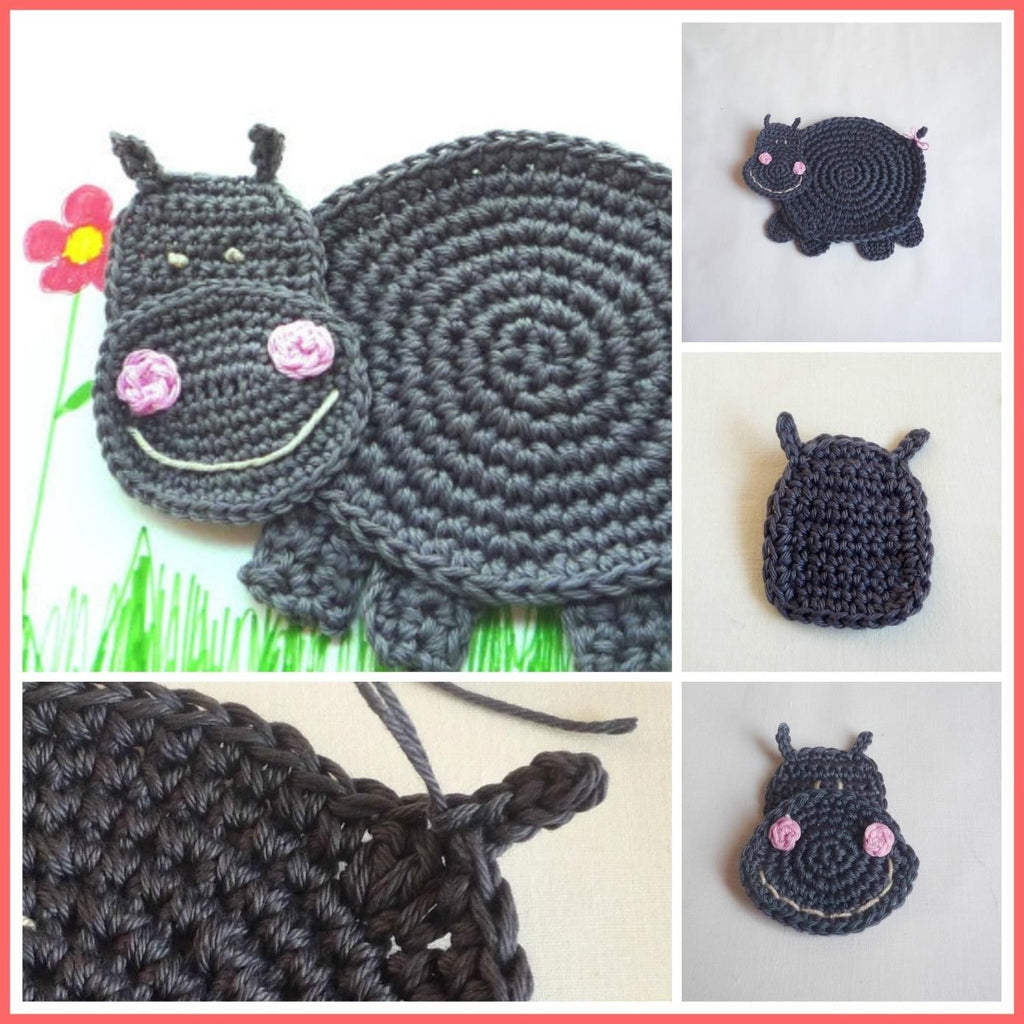 Hippo Crochet Coaster Pattern - This Weekend for Free