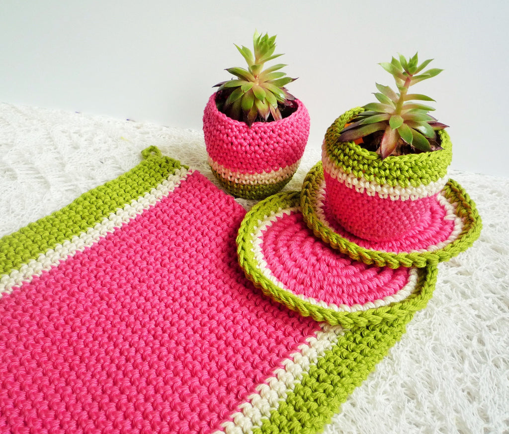 monikacrochet free pattern melon pot holder