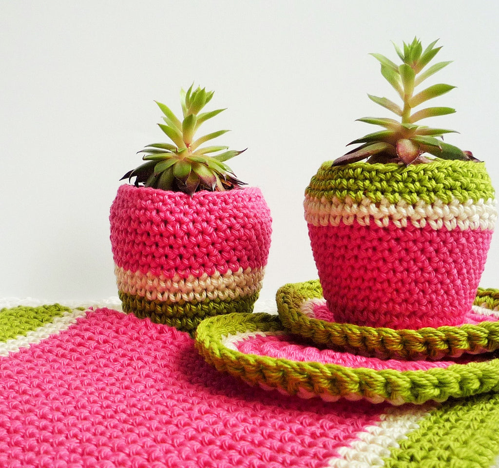 free crochet pattern melon pot holder