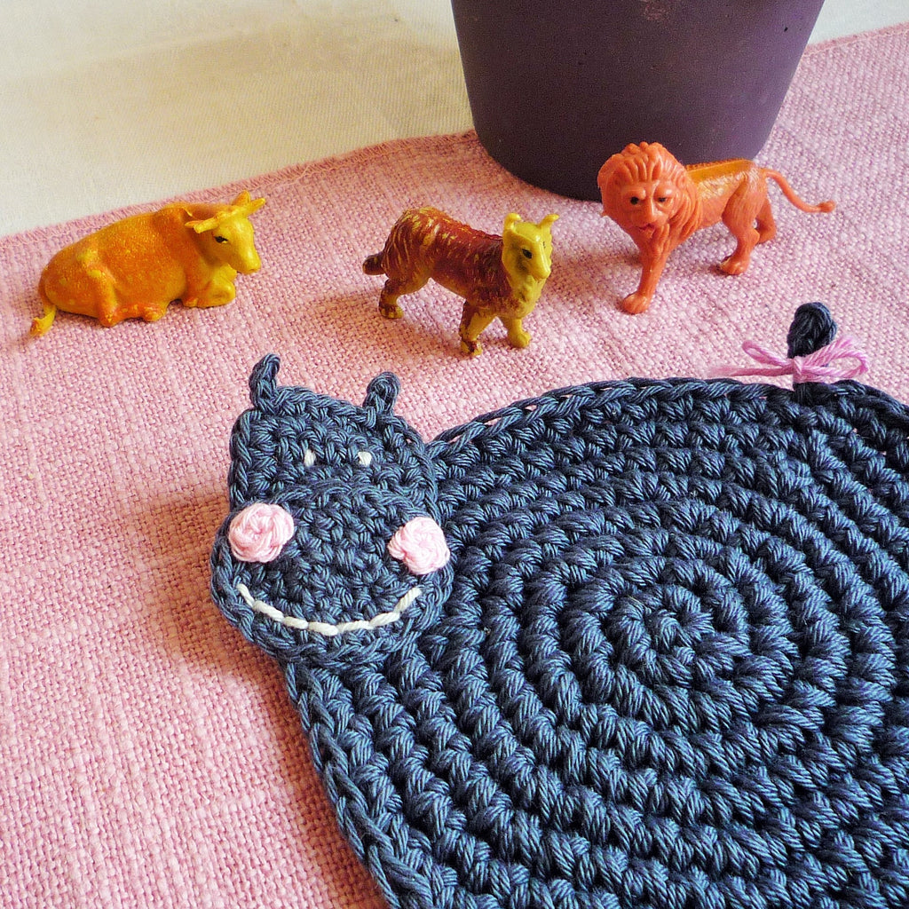 crochet coaster pattern hippo