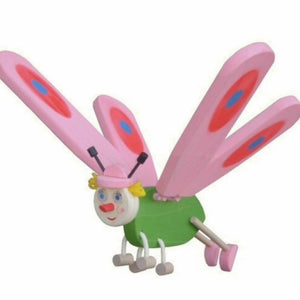 Pink Butterfly Flying Wooden Mobile Toy