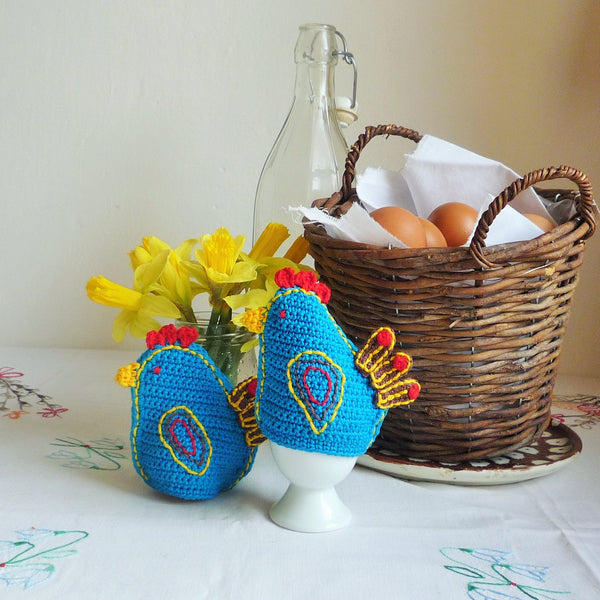 Blue Chicken Egg Cozies