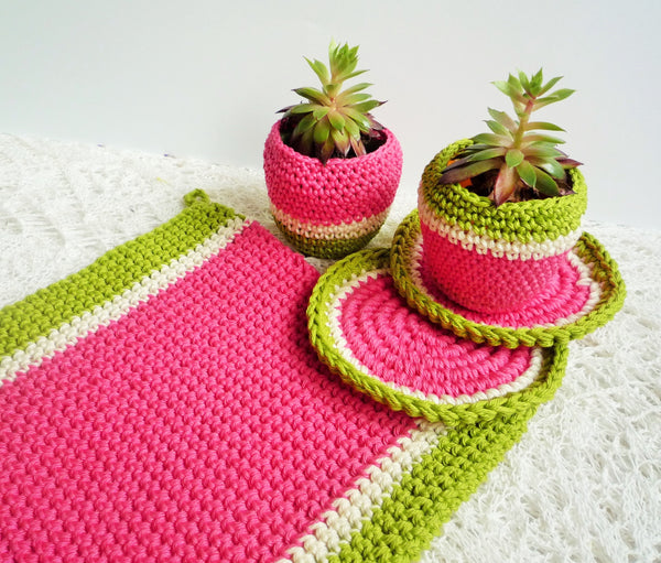 crochet melon pot holder pattern