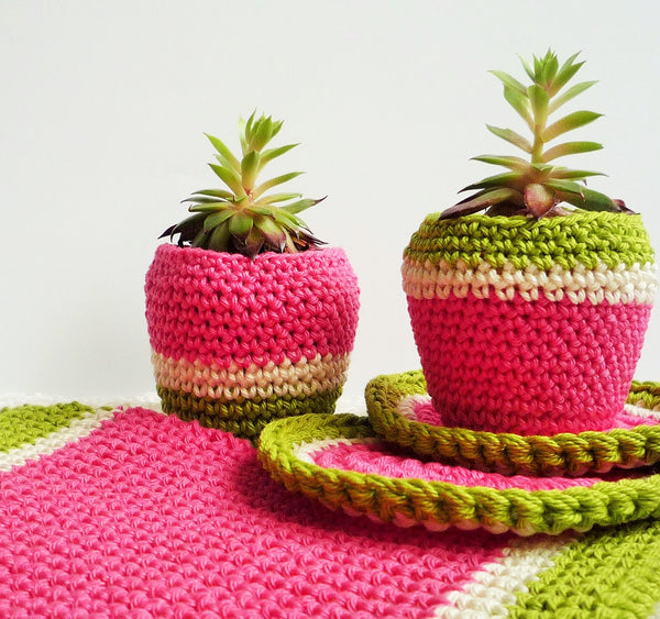crochet pattern for free-double thick melon pot holder