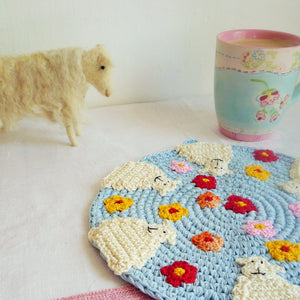 crochet sheep hot pad by monikacrochet