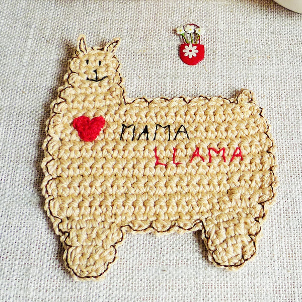Mama Llama Coaster by MonikaCrochet