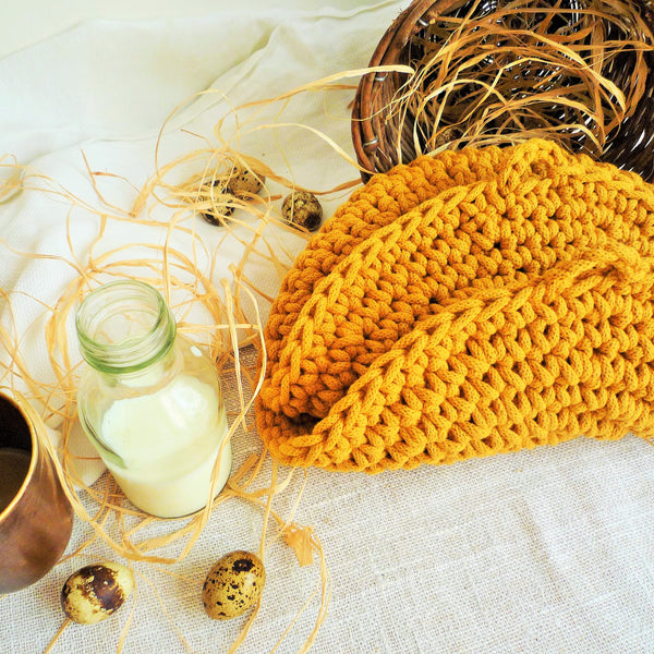 Mustard Yellow Rustic PlaceMats
