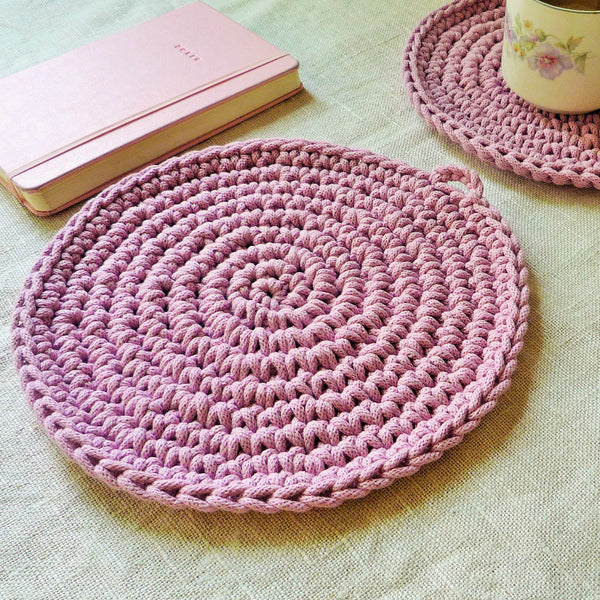 Dusty Pink Rustic PlaceMats