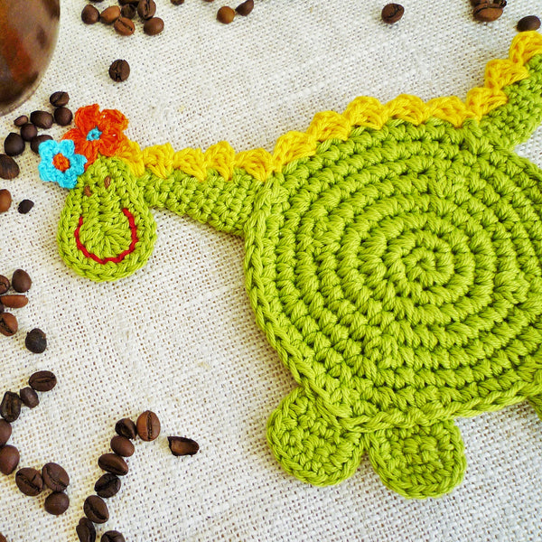 dragon coaster crochet pattern for begginers