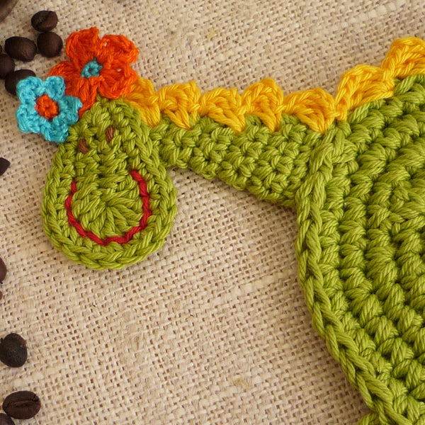 crochet pattern dragon coaster