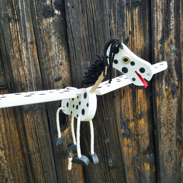 Flying Horse Wooden Mobile Toy - Gender Neutral Toy - Natural Nursery Decor