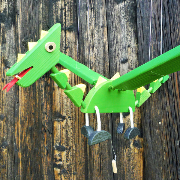 Wooden Flying Dragon Mobile Toy