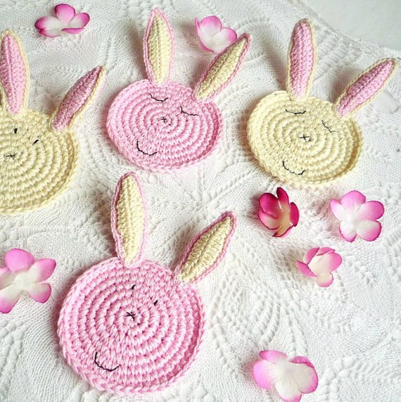 Easter Bunny Coaster Pattern - Rabbit Pattern