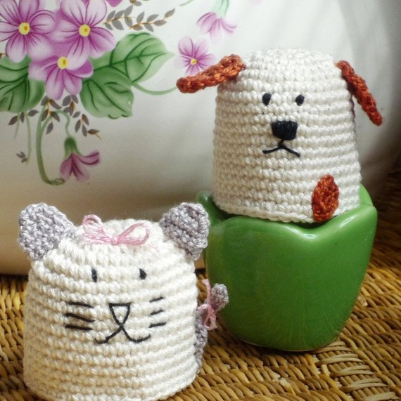 Cat and Dog Egg Cozies - Perfect Gift for Couple