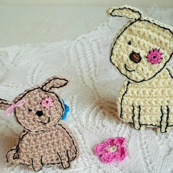 Crochet Dog Applique - Free Pattern
