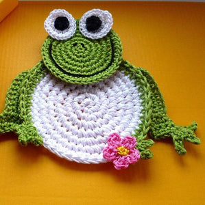 Crochet Frog Coaster Pattern