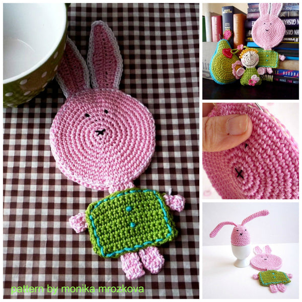 bunny coaster crochet pattern