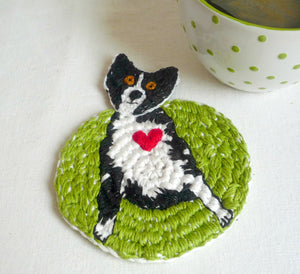 Dog Coaster - Crochet Coaster