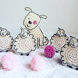 Sheep Crochet Applique - Sheep Craft Embellishment
