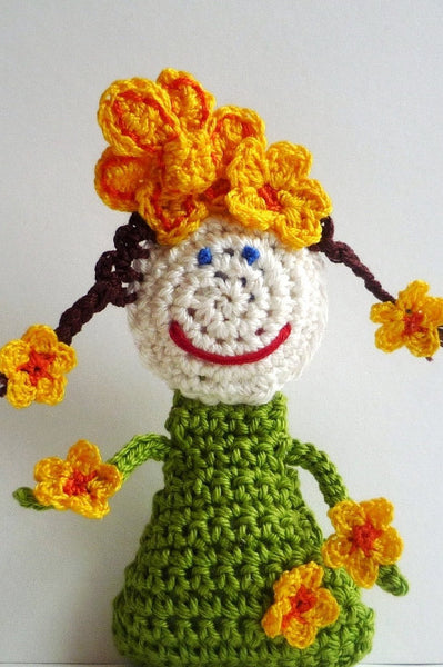 Crochet Toy for Girl - Little Flower Doll