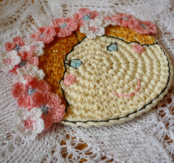 Flower Coaster - Crochet Coaster