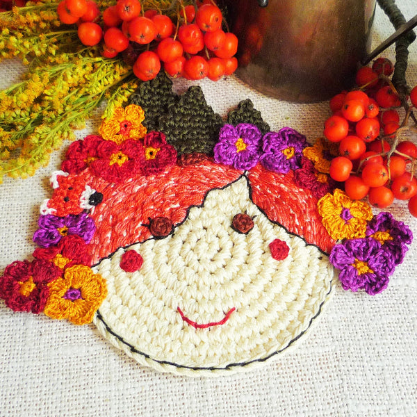 Autumn Fairy Flower Coaster