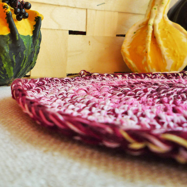 Crochet Burgundy Hot Pad