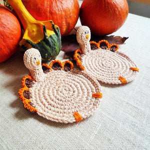 Turkey Coaster Pattern - Crochet Turkey Pattern