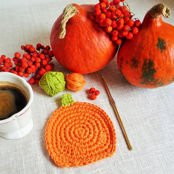 pumpkin coaster pattern