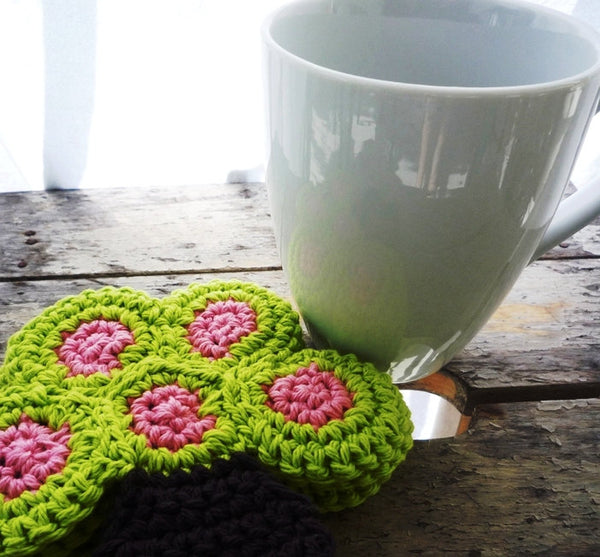 Tree Coasters - Crochet Tree
