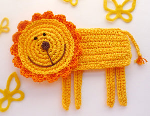 Lion Coaster - Crochet Coaster