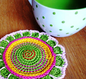 Spring Flower Coasters - Crochet  Coasters for Drinks