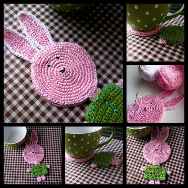 Easter Bunny - Crochet Coaster