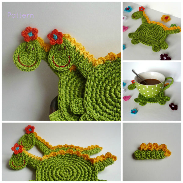 Dragon Coaster Easy to Make Crochet Pattern