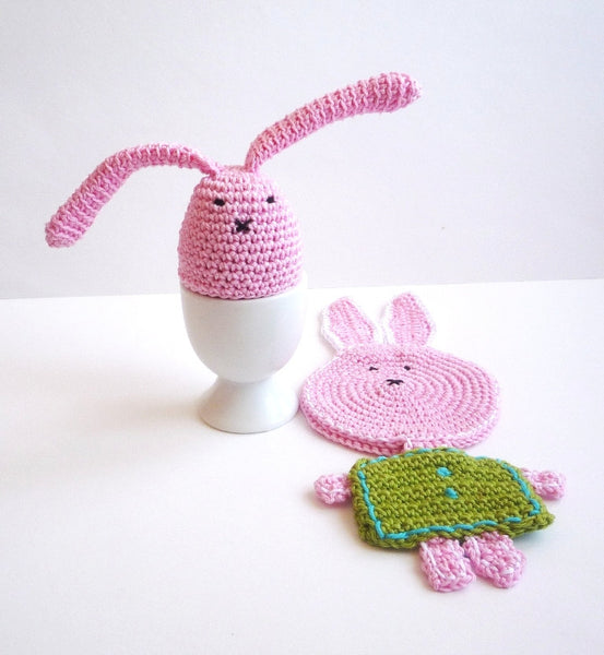 Rabbit Egg Warmers - Bunny Egg Cozy