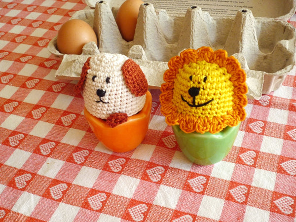 Dog Egg Cozies Crochet Set of 2
