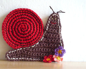 Crochet Snail Coasters - Animal Coasters