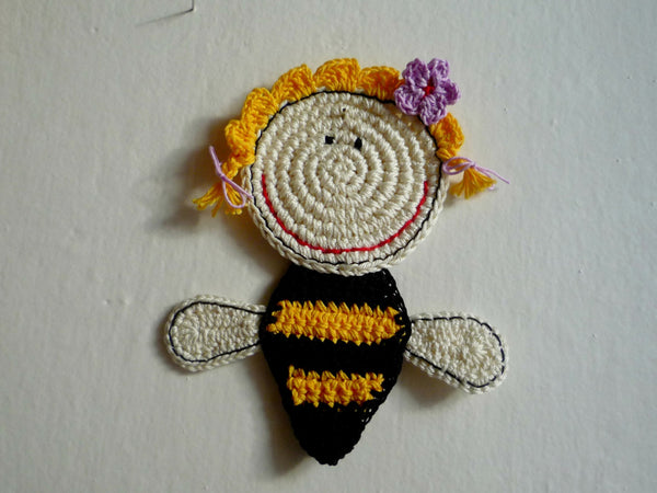 Honey Bee Coaster - Crochet Coaster