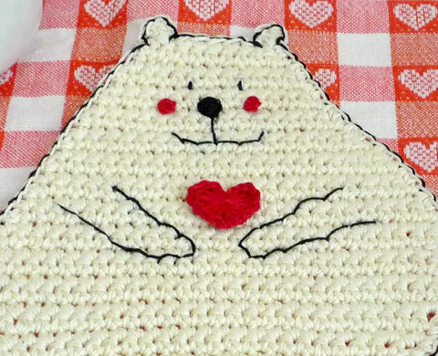 Polar Bear Crochet Coaster - Animal Coaster