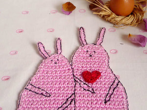 Rabbit Coaster - Crochet Coasters