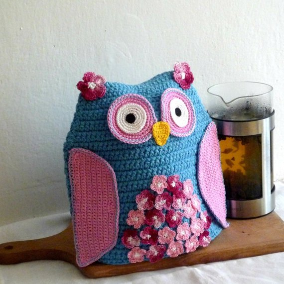 Owl Tea Pot Cozy Crochet Pattern