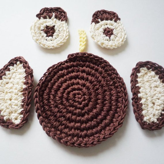 Owl Coaster Crochet Pattern - Monika Crochet
