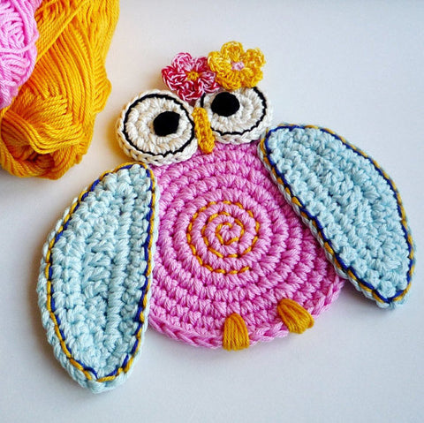 Owl Crochet Coasters - Monika Crochet